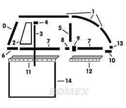 Dichtsatz, Cabrio 1200-1500 + 1302