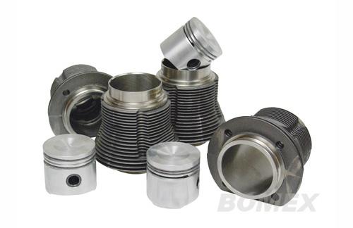 Kolben & Zylinder, Mahle, 77x69mm, 1300ccm, Muldenkolben