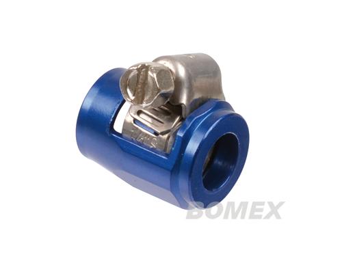 Schlauchschelle Spezial, Alu blau, 10-12mm
