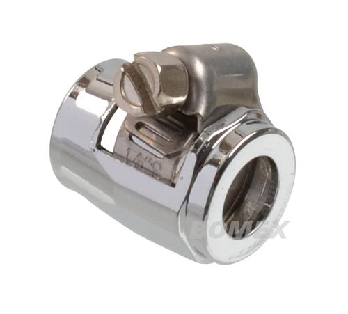 Schlauchschelle Spezial, Alu Chrom,10-12 mm