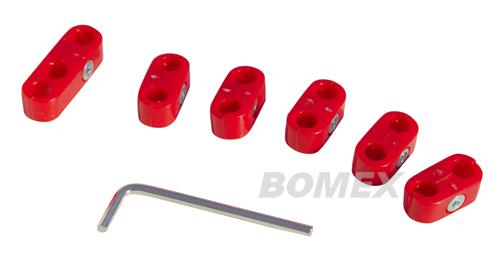 Zündkabelklemmensatz, rot