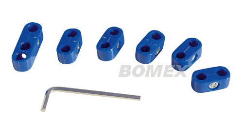 Zündkabelklemmensatz, blau