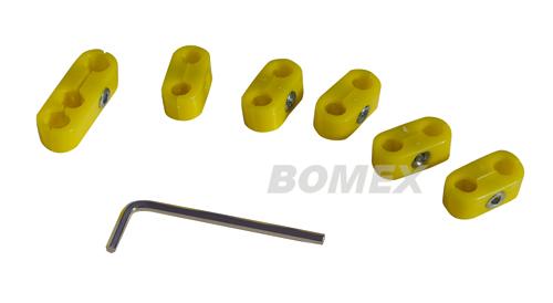 Zündkabelklemmensatz, gelb