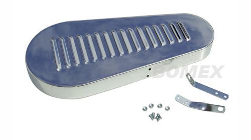 Keilriemenschutzgitter, Chrom, mit Luft-Schlitzen