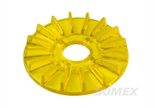 Abdeckung, Generatorscheibe, transparent, gelb