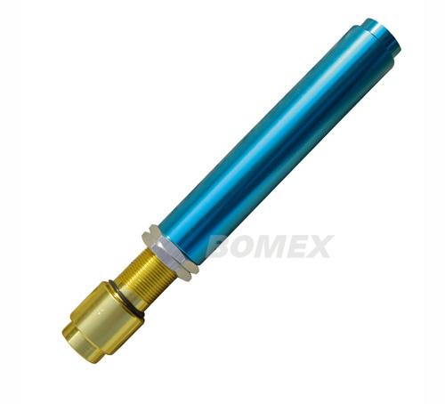 Stößelrohr, Aluminium, blau, einstellbar, 1.2-1.6