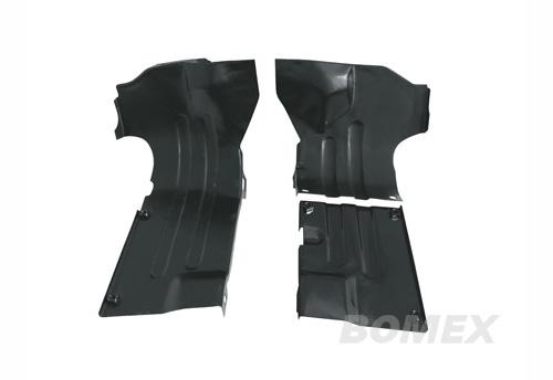 Stößelrohrschutzbleche, schwarz, 3-teilig