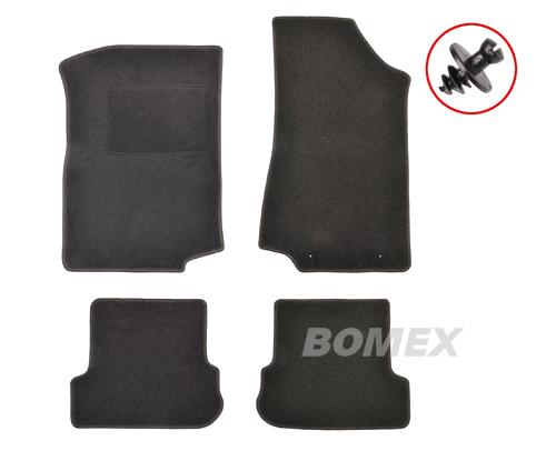 Fußmatten, 4-teilig, schwarz, Golf 2