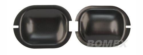 Türgriffschalen, Aluminium schwarz, Golf 1, 2-türig
