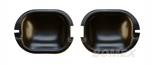 Türgriffschalen, Aluminium schwarz, Golf 2, 2-türig