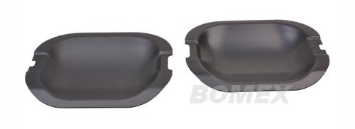 Türgriffschalen, Aluminium schwarz, Golf 3, 2-türig