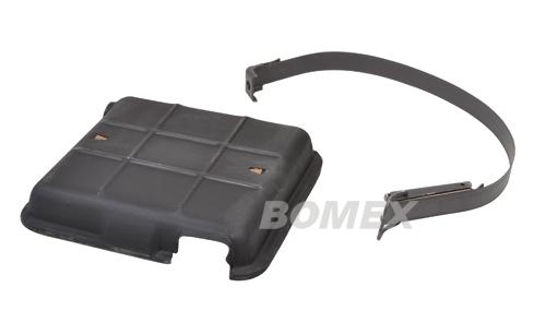 Batterieabdeckung, mit Spannband, 6 Volt, Käfer, Karmann