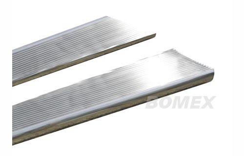 Trittbretter, Aluminium, silber poliert