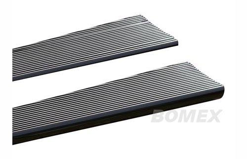 Trittbretter, Aluminium, silber/schwarz poliert