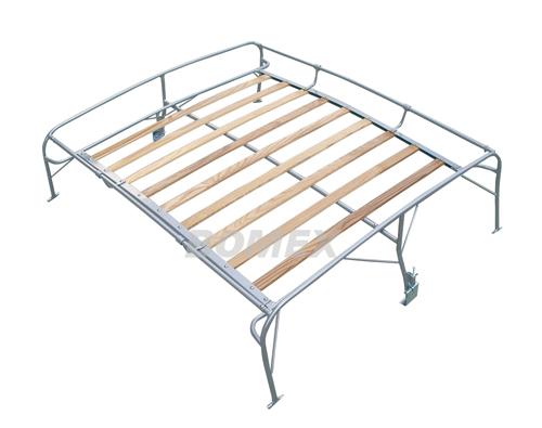Dachgepäckträger mit Holzleisten, pulverbeschichtet