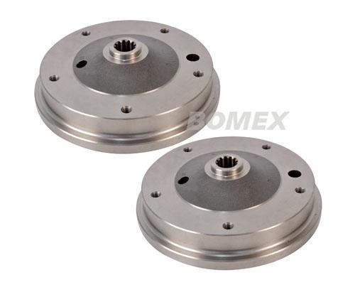 Bremstrommel, 1 Paar, hinten, 5-Loch/LK205, -7.67