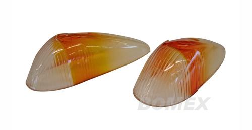 "Blinkergläser, klar/orange, ""Italia"", Export"