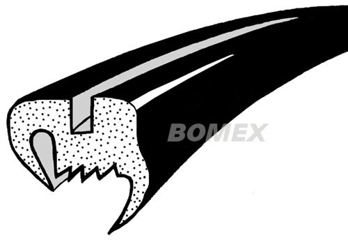 Frontscheibendichtung, Käfer Cabrio, 8.64-7.72
