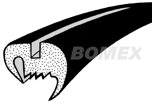 Frontscheibendichtung, Cabrio, 8.64-7.72