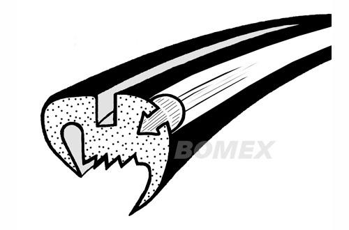 Frontscheibendichtung, Cabrio, 8.57-7.64