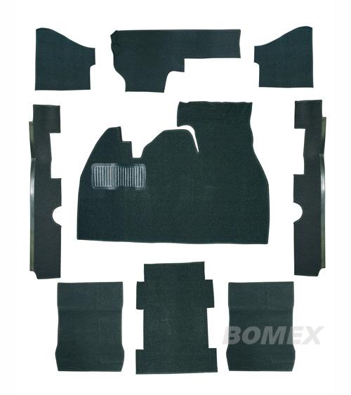 Teppichsatz, schwarz, Limousine, 1303