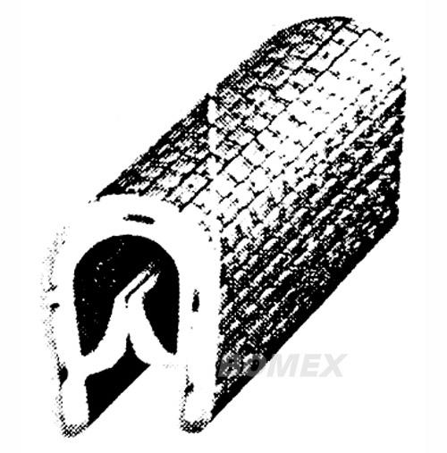 Kantenschutzprofil, schwarz