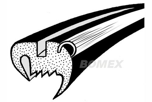 Frontscheibendichtung, mit Nut, Aluminium, Limousine, 1965- +1302