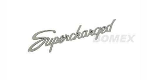 """Schriftzug """"Supercharged"""", Chrom, 22x5cm"""
