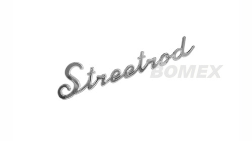 "Schriftzug ""Streedrod"", Chrom, 18x4cm"