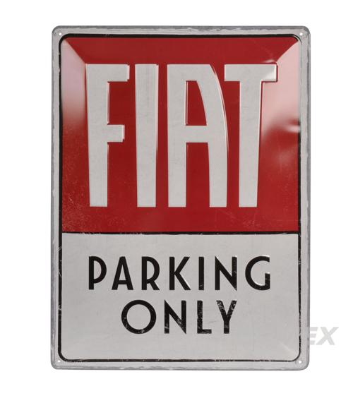 Blechschild, Fiat Parking Only