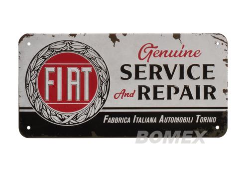 Blechschild, Fiat, Service & Repair
