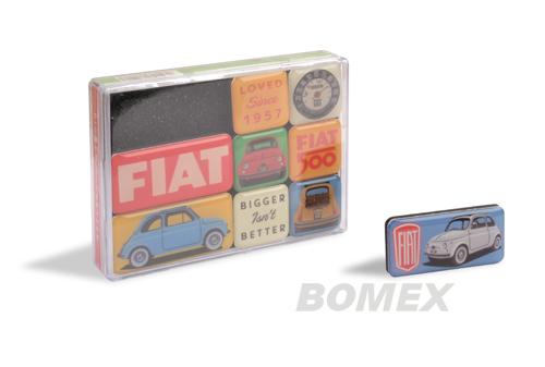 Magnetschildsatz, Fiat 500, 9-teilig