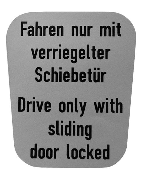 """Aufkleber """"Schiebetür"""""""