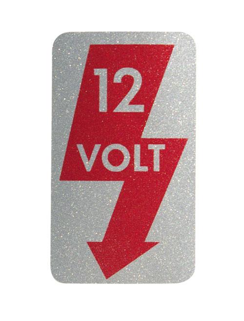 "Aufkleber ""12 Volt"", A-Säule, links"