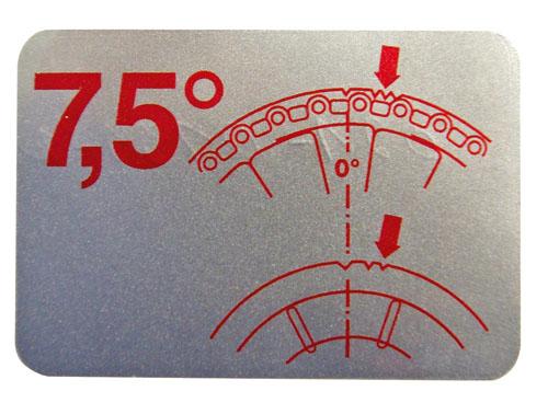 """Aufkleber """"Zündzeitpunkt 7.5°, Typ1"""