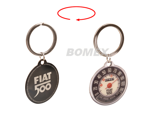 Schlüsselanhänger, Fiat 500, Tacho