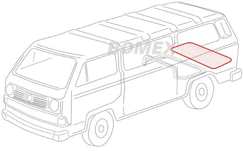 Dichtung, Motorraumdeckel, oben, Bus T3