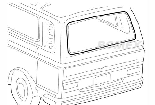 Heckscheibendichtung ohne Nut, Bus T3, 5.79-7.92