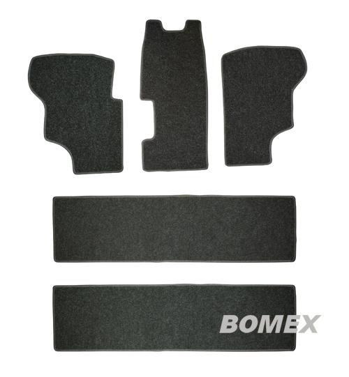 Fußmatten, schwarz, 5-tlg., Bus T3, Benziner