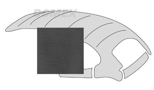 Himmel, universal, mit Schiebedachöffnung, glatt,schwarz, Käfer 63-67