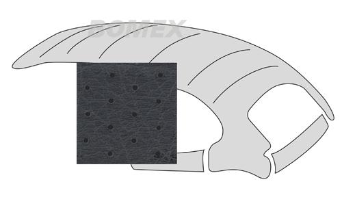 Himmel,universal, mit Schiebedachöffnung, perforiert,schwarz, Käfer 63-67