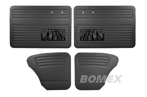 Tür+Seitenverkleidungen, schwarz,Käfer Limousine, 55-64