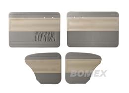 Tür+Seitenverkleidungen, altweiß/grau , Käfer Limousine
