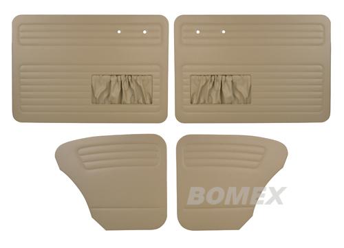 Tür+Seitenverkleidungen, beige, Käfer Limousine, 55-64
