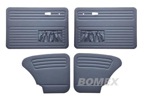 Tür+Seitenverkleidungen, blau, Käfer Limousine, 8.66-