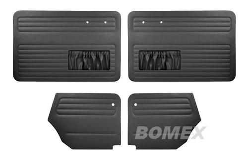 Tür+Seitenverkleidungen, schwarz, Käfer Cabrio, 64-66