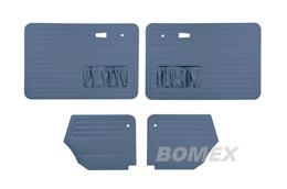 Tür+Seitenverkleidungen, blau, Käfer Cabrio, 66-72