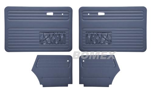 Tür+Seitenverkleidungen, blau, Käfer Cabrio