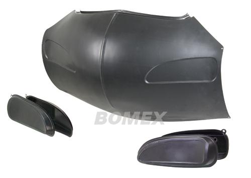 Frontmaske, mit Lufteinlassblechen, Karmann Ghia