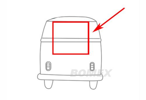 Dichtung, Heckklappe, Top Qualität, Bus T1/T2, 8.63-7.71